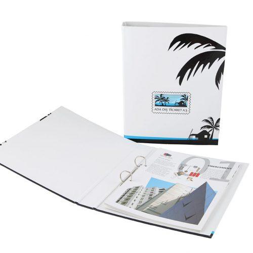 Ada dış ticaret klasörlü katalog basımı