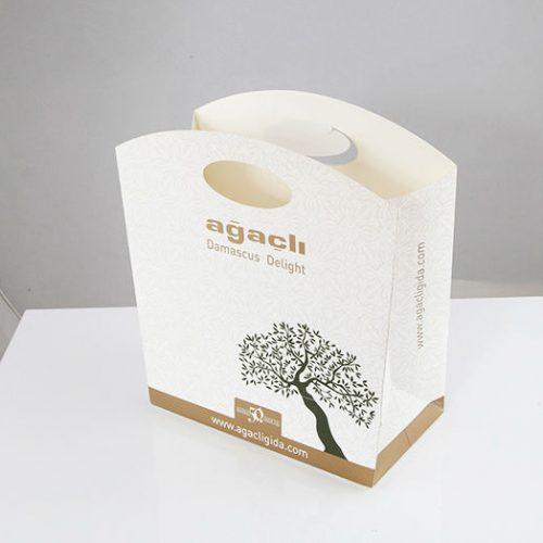 Ağaçlı Lokum Karton Çanta tasarımı