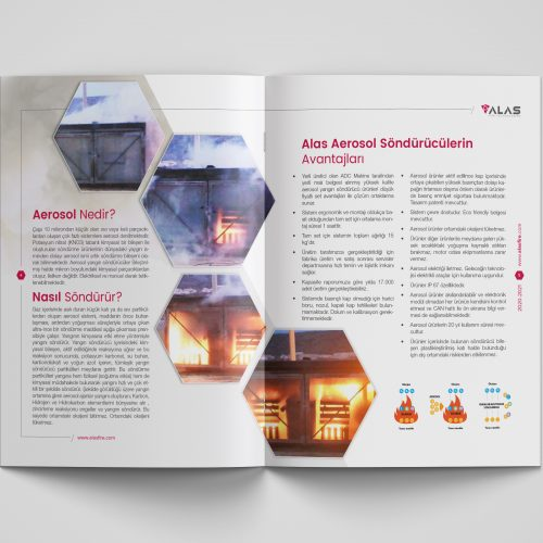 Alas Fire Technologies Katalog Tasarımı