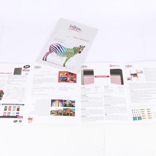 Bilkim Boya katalog tasarımı