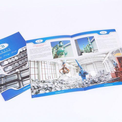 CB metal alüminyum katalog tasarımı