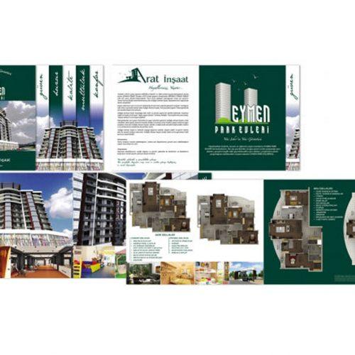 Arat inşaat  eymen park evleri katalog Tasarımı