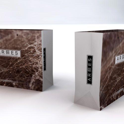 Armes Marble Karton Çanta Tasarımı