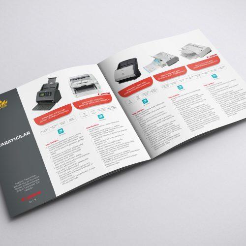 Asil Bilişim Canon DMO Ürün Katalogu Tasarımı