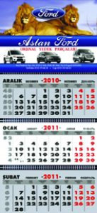 Aslan Ford Otomotiv Gemici Takvim tasarımı