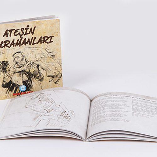 Ateşin Kahramanları Kitab Tasarım