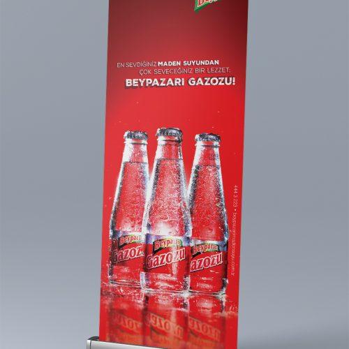 Beypazarı Doğal Maden Suları Roll Up Banner Tasarımı