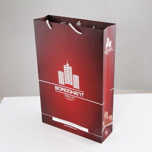 Bordo İnşaat Karton Çanta tasarımı