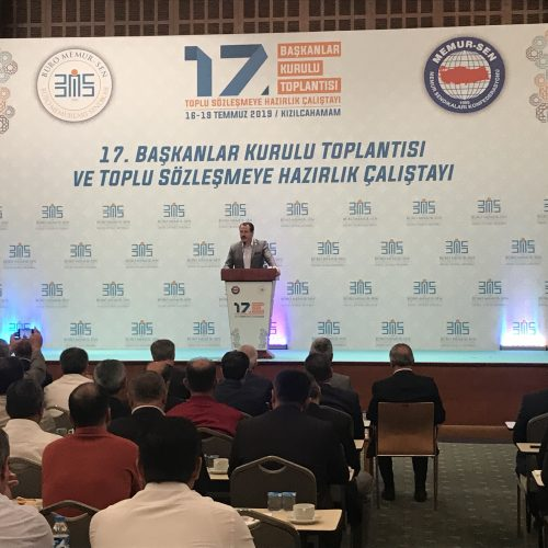 Büro Memur-sen 17.Başkanlar Kurulu Toplantısı ve Toplu Sözleşmeye Hazırlık Çalıştayı Kızılcahamam Sahne Tasarımı ve Kurulumu