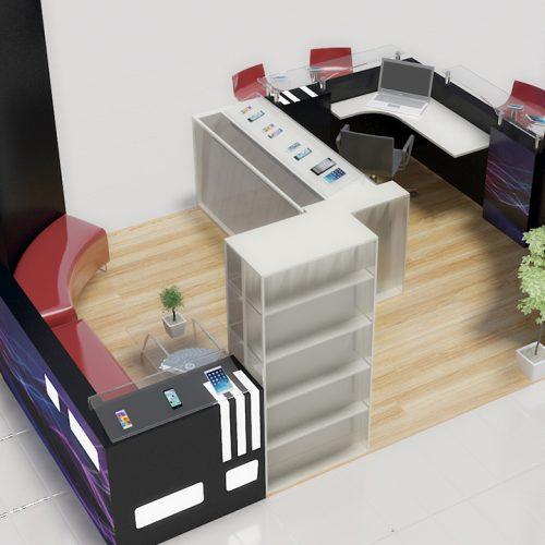 Crea Phone Kiosk Stand Tasarımı - AVM Stand Tasarımı