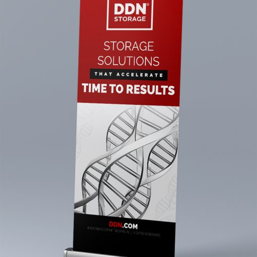 DDN STORAGE Roll Up Banner Tasarımı