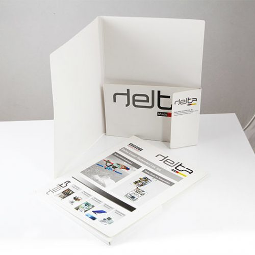 Delta Mühendislik sunum dosyası tasarımı