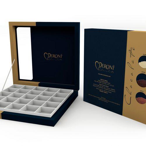 Deroni Çikolata Ürün Kutusu Tasarımı