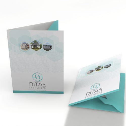 Ditaş Prefabrik Cepli Dosya Tasarımı