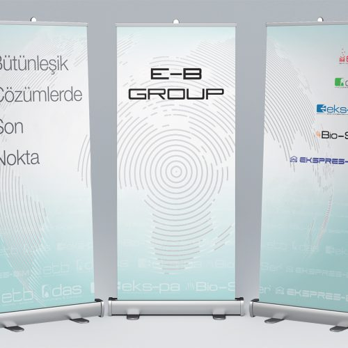EB Group 3'lü Roll Up Banner Tasarımı