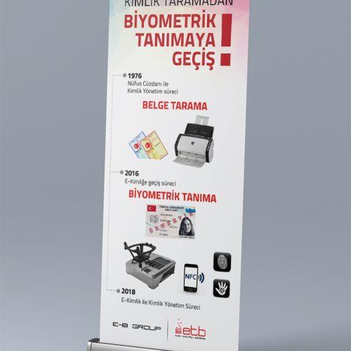 ETB Güvenlik Roll Up Banner Tasarımı