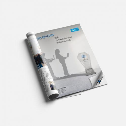 Ekspa HP Z2 Mini Dergi Reklamı Sayfası Tasarımı