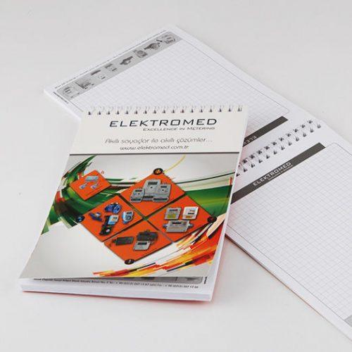 Elektromed Bloknot tasarımı