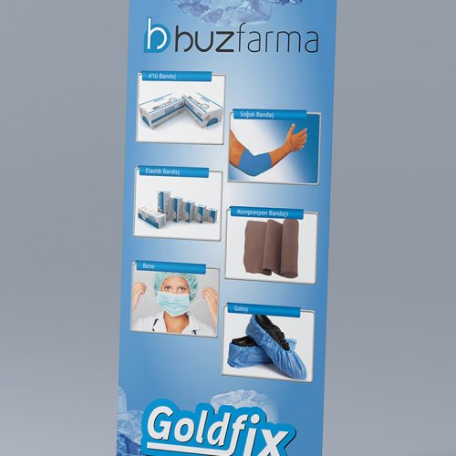 Goldfix Roll Up Banner Tasarımı