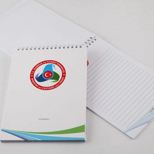 Gümrük ve Ticaret Bakanlığı Bloknot tasarımı