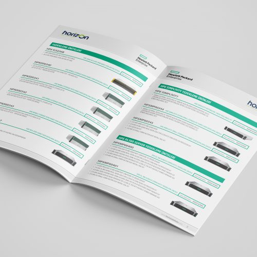 Horizon Bilgi Teknolojieri DMO Ürün Kataloğu Tasarımı