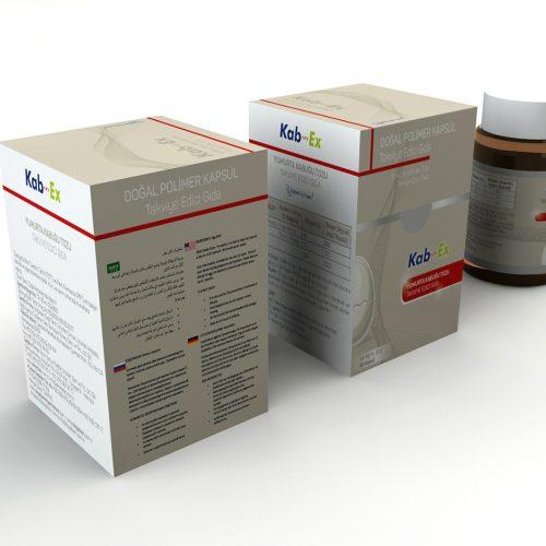 Kabex Takviye Edici Gıda Ürün Kutusu Tasarımı