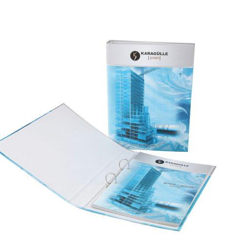 Karagülle inşaat klasörlü katalog basımı