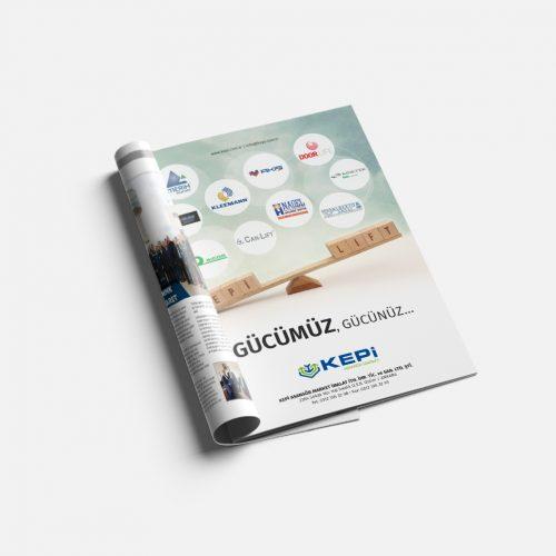 Kepi Asansör Reklam Sayfası Tasarımı