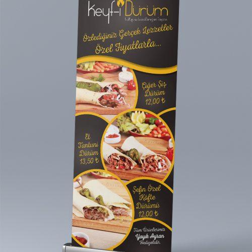 Keyf-i Dürüm Roll Up Banner Tasarımı