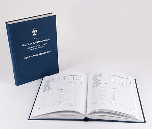 Kültür ve Turizm Bakanlığı Envanter Defteri Tasarımı