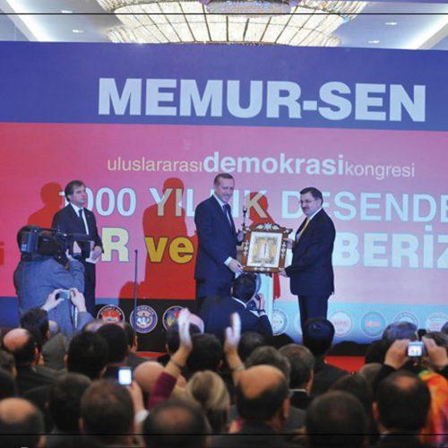 Memur Sen Uluslararası Demokrasi Kongresi Sahne Tasarımı