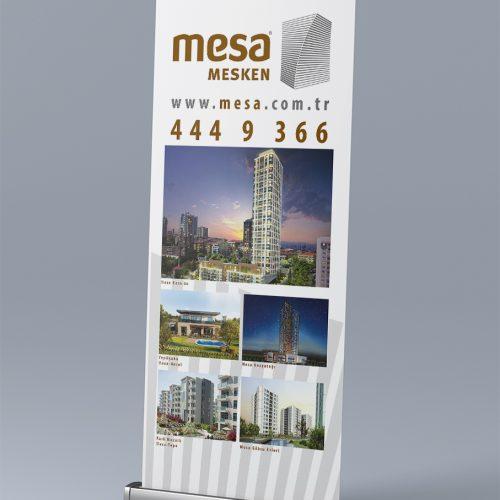 Mesa Mesken Roll Up Banner Tasarımı