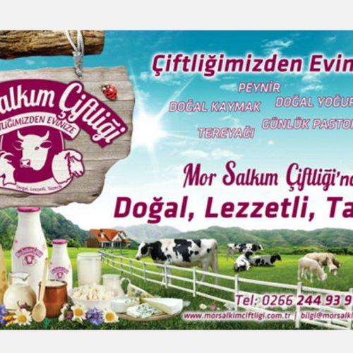 Mor Salkım Çiftliği Gazete Reklamı tasarımı