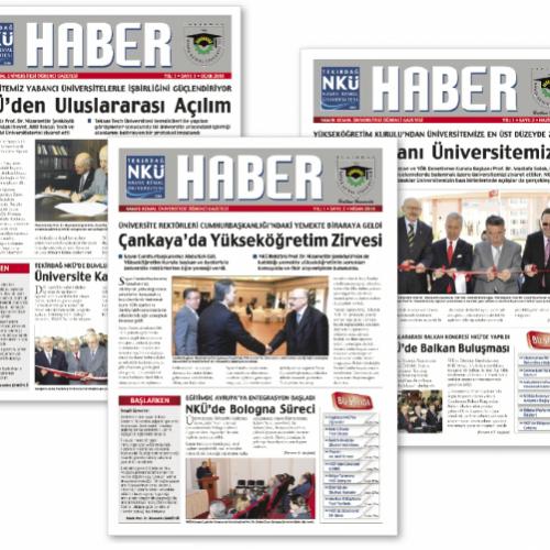 NKÜ Haber Gazete Tasarımı