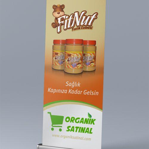 Organik Satınal Roll Up Banner Tasarımı