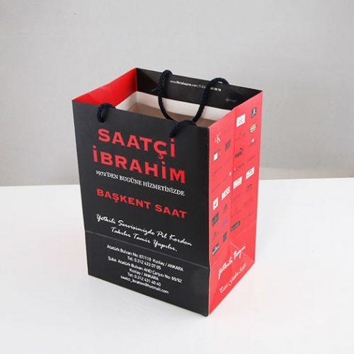 Saatçi İbrahim Karton Çanta tasarımı