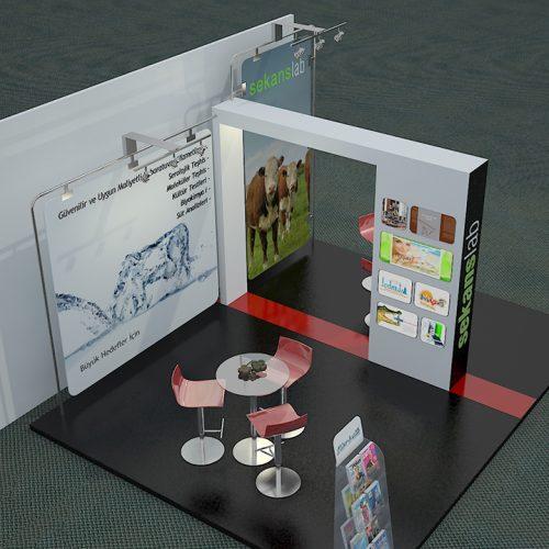 Sekanslab Hayvan Laboratuvarı Fuar Stand Tasarımı ve Kurulumu