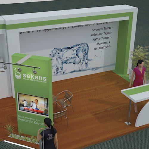 Sekanslab Hayvan Laboratuvarı İzmir Tarım ve Hayvancılık Fuarı Stand Tasarımı