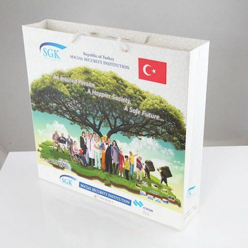 Sosyal Güvenlik Kurumu Büyük Boy Karton Çanta tasarımı