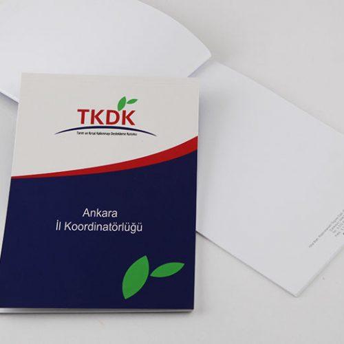 TKDK Bloknot tasarımı