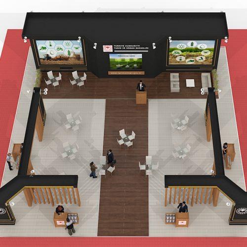 Tarım ve Orman Bakanlığı İzmir Tarım ve Hayvancılık Fuarı Stand Tasarımı ve Kurulumu