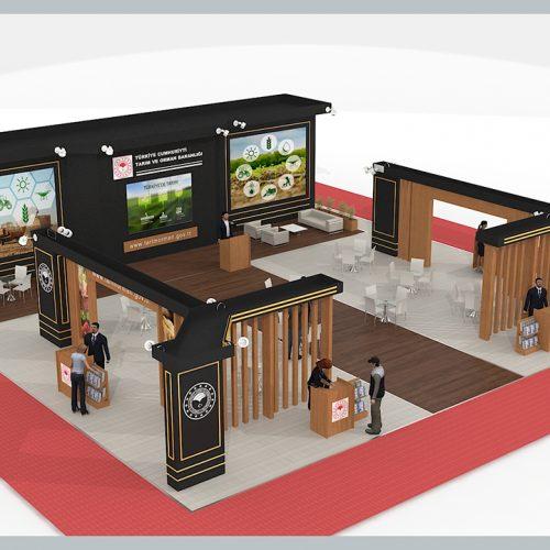Tarım ve Orman Bakanlığı Kayseri Tarım ve Hayvancılık Fuarı Stand Tasarımı ve Kurulumu