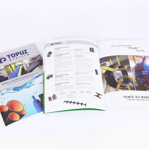 Topuz plastik katalog tasarımı