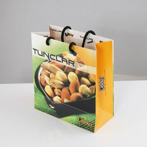 Tunçlar Kuruyemiş Karton Çanta tasarımı