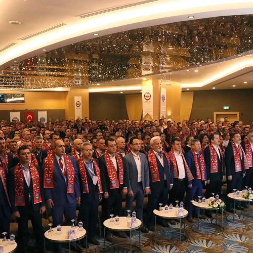 Ulaştırma Memur Sen 9. Genişletilmiş İl Temsilcileri Toplantısı Antalya Sahne Tasarımı Sahneden Salon Görünümü ve Atkı Tasarımı