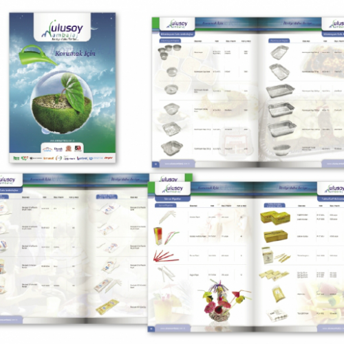 Ulusoy ambalaj ürün katalog tasarımı
