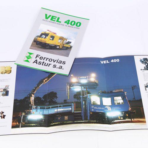 VEL 400 katalog tasarımı