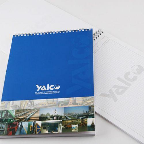 Yalco Dış Ticaret Bloknot tasarımı