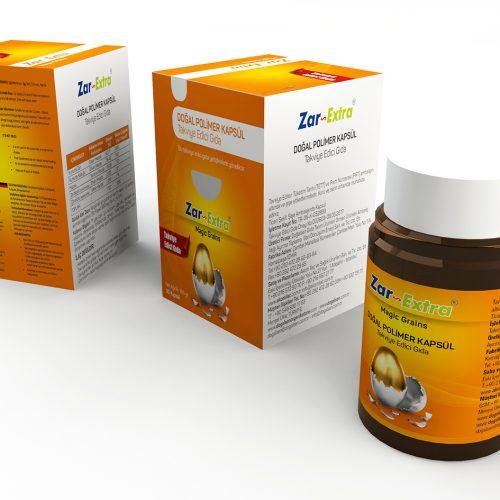 Zarex Takviye Edici Gıda Ürün Kutusu Tasarımı