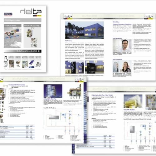 delta enerji sistemleri tanıtım kataloğu tasarımı